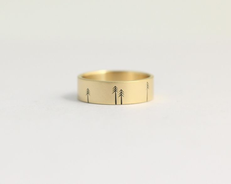Pine Forest Ring in Yellow Gold - Medium