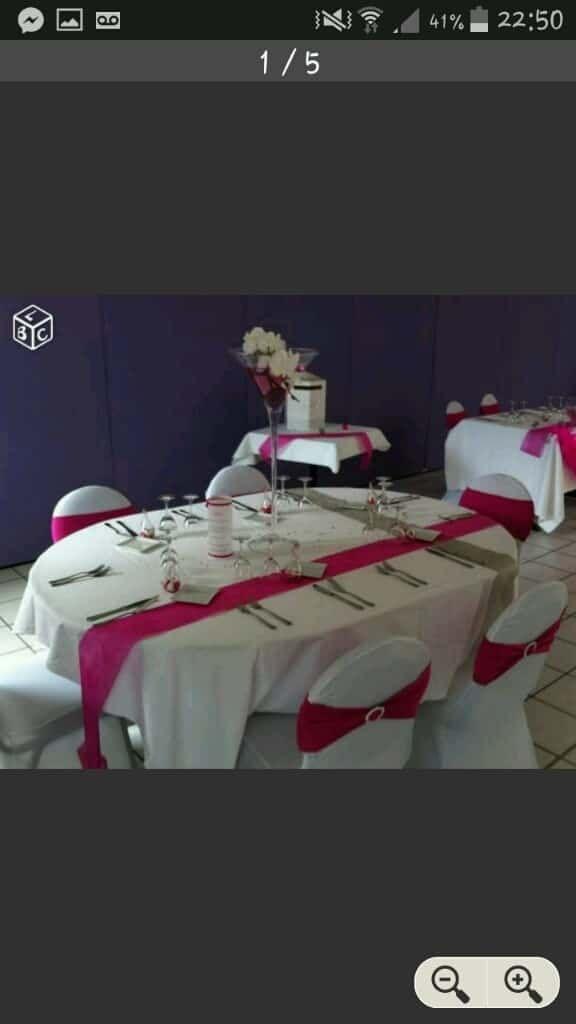 Mariage fushia et blanc - 2