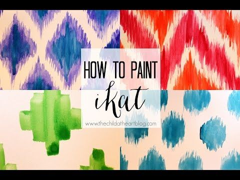 How to Paint Ikat Patterns - Child at Heart Blog