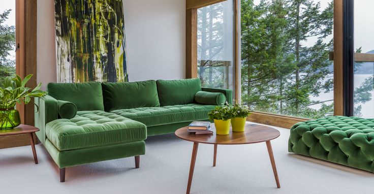 Sven Grass Green Left Sectional Sofa - Sectionals - Article | Modern, Mid-Century and Scandinavian Furniture