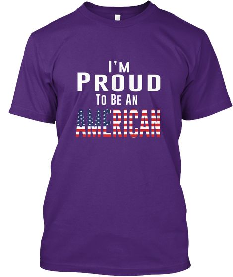 [400+Sold] Independence Day Tees Usa Purple T-Shirt Front