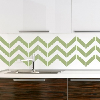 Kitchen tile style temporary wall covering. Perfect for renters - www.wallums.com