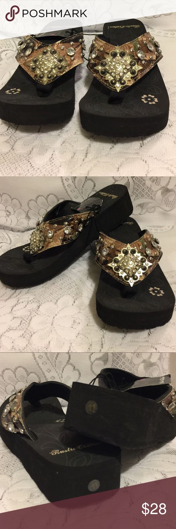 Brand New with tag Bling Flip-Flops Size 11 Brand New Camouflage bling Flip - Flops Size 11 Shoes Sandals
