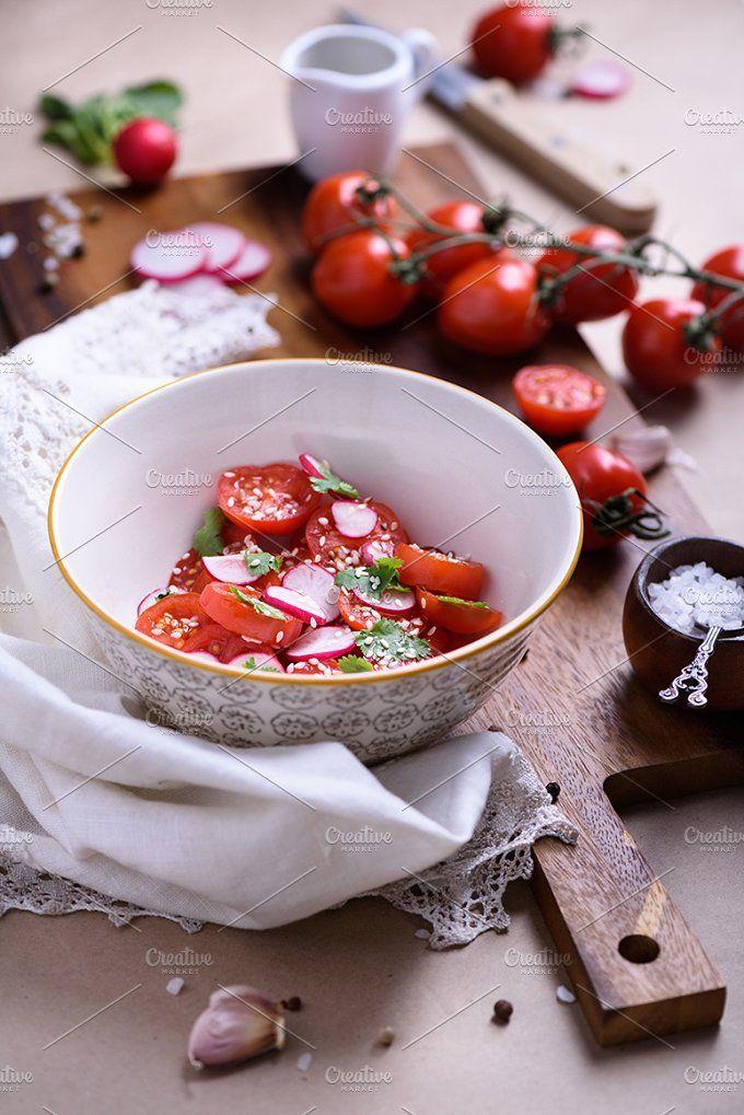 Vegetable salad by Iuliia Leonova on @creativemarket
