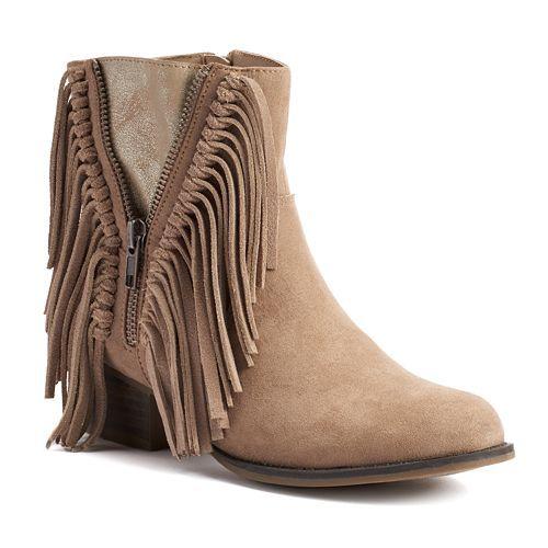 Unionbay Howdy Women's Fringe Ankle Booties