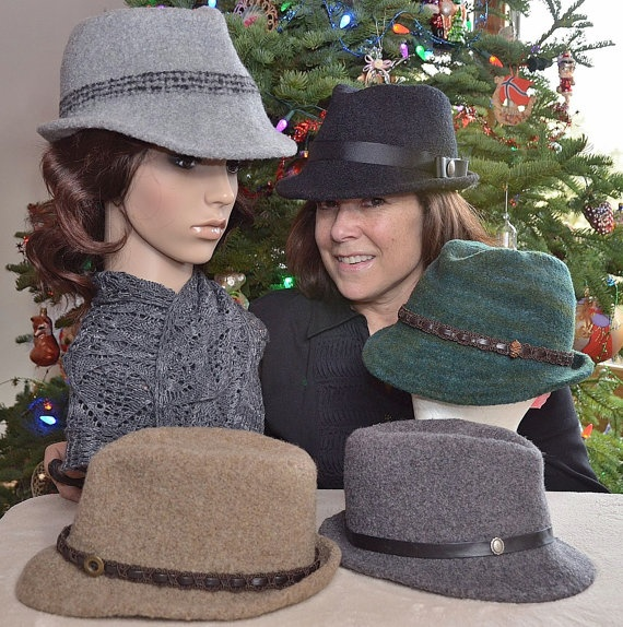 Knitting Pattern Trilby Hat : Knit and Felted Hat Pattern ~ Felted Fedoras are Fun Fedora hats, Patterns ...