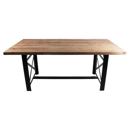 Perfect for serving breakfast to the family in your kitchen or displaying a statement mirror in your hallway, this charming table features a metal base and c...