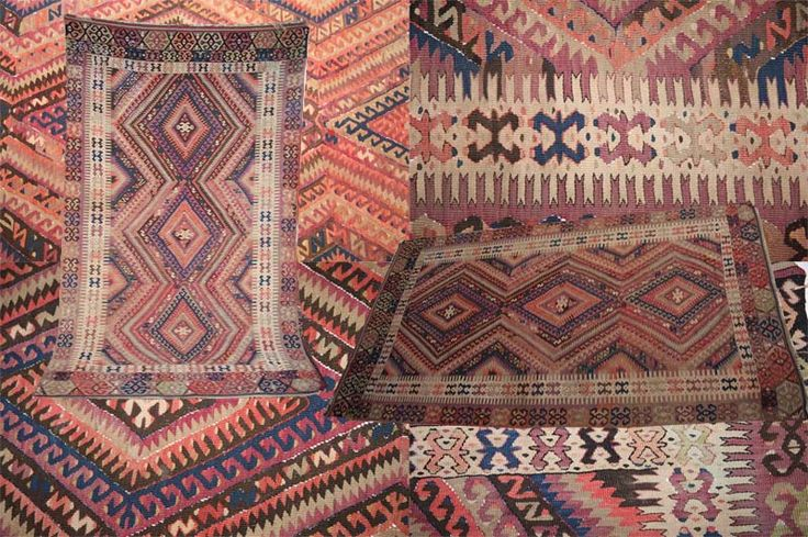 This recently sourced antique handmade Turkish Kilim brings about stunning look both in colours and detailed design. Measuring 255x135cm (8.3'x4.4') and made around the first quarter of the 20th century, it has beautiful diamond shaped medallions surrounded by zigzag borders decorated with geometric and floral motifs.