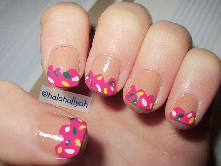 The Simpsons donut nails :)