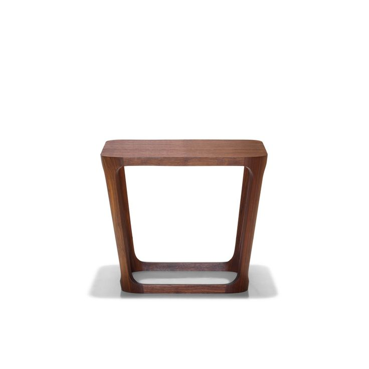 The Area table is available in occasional and coffee table sizes   solid walnut frame and quarter cut, slip matched walnut veneer top    various finish options