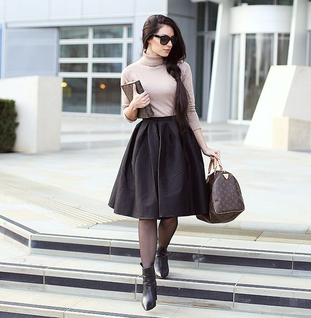 louis vuitton designer bag with chic outfit