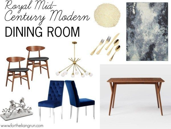 Helpful decor ideas show me how to recreate a mid-century modern dining room. This post includes tips on where to get mid century chairs, table, and other furniture!