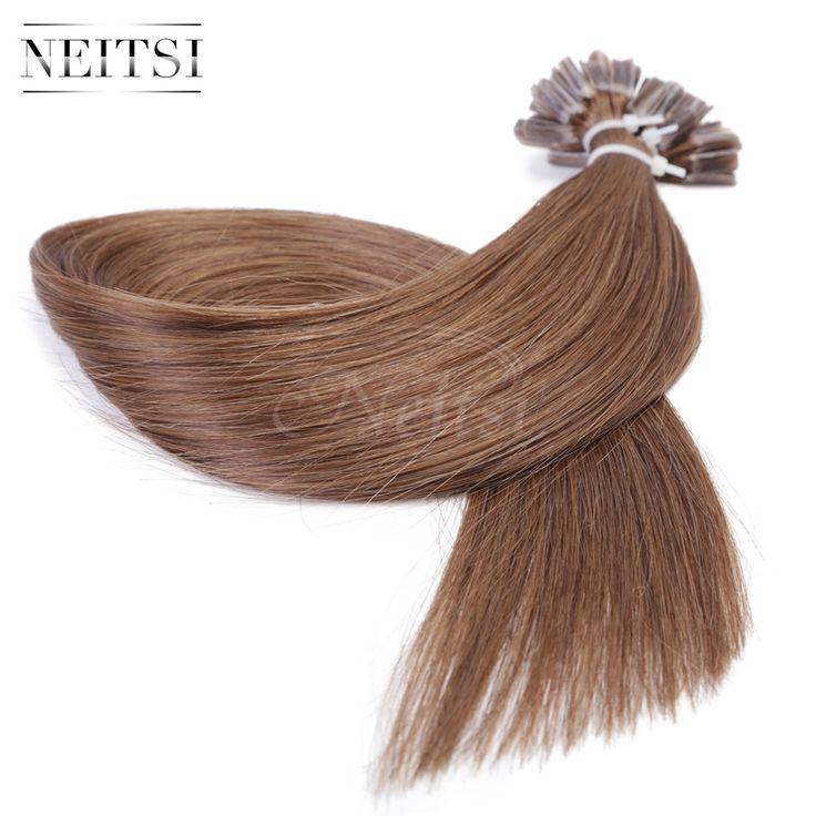 "16"" 20"" 24"" 1g/s 50g 100g 8# Super U Nail Tip Keratin Hair Fusion Human Hair Extensions 100% Indian Virgin Remy Hair Straight"