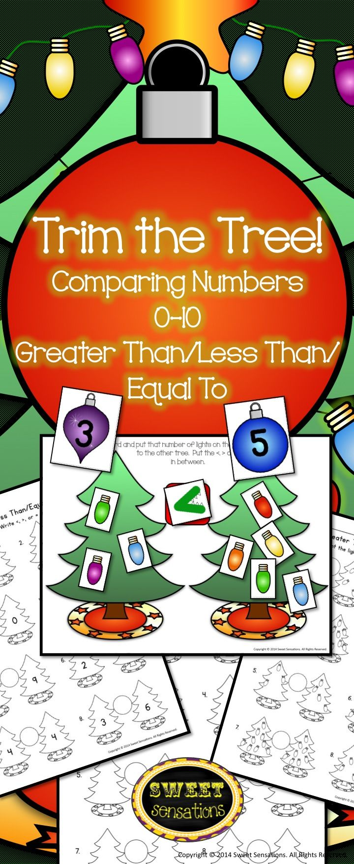 This is a fun Kindergarten math station for comparing numbers with a Christmas theme that can be used year after year! Common Core aligned!