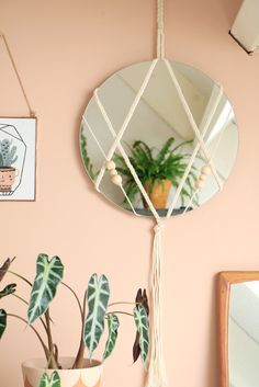 Diy Macrame Mirror | Enter My Attic                                                                                                                                                                                 More