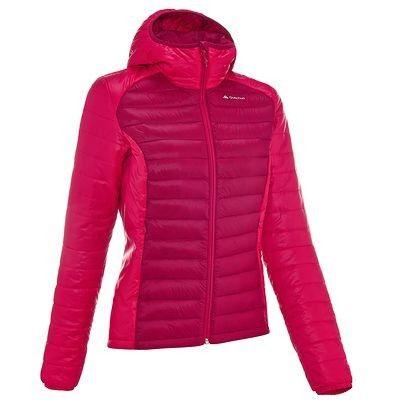 Abbigliamento escursionismo donna Montagna, Escursionismo - Piumino donna X-LIGHT rosa QUECHUA - Abbigliamento Montagna