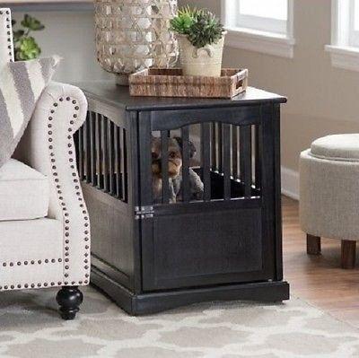 Pet Crate End Table Dog Cage Kennel Furniture Bed Wood Indoor Large Medium Cat - ShopMonkeez  - 4
