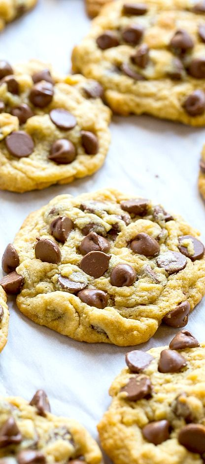 Chocolate Chip Pudding Cookies are super soft and chewy with tons of chocolate chips.