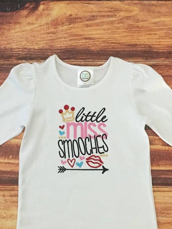 Little Miss Valentine Shirt Girls Valentines Day Shirt Baby Girl