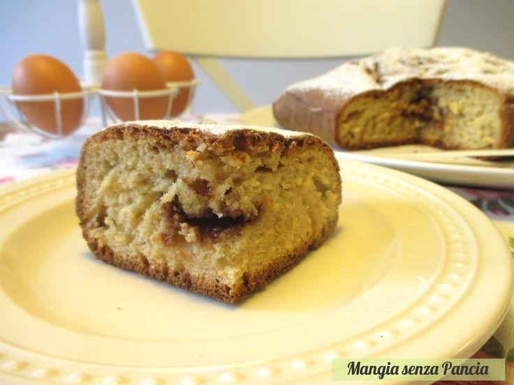 Torta variegata con crema al cioccolato