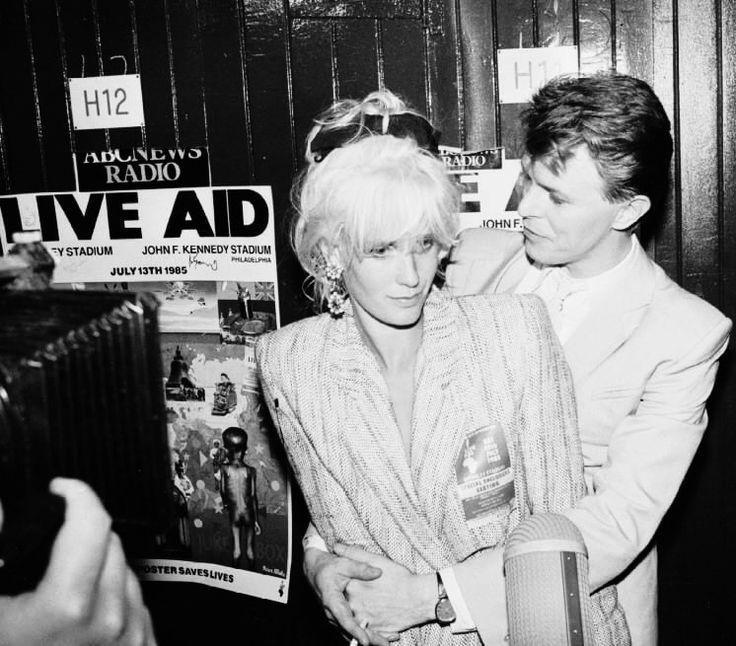 David Bowie and Paula Yates, Bob Geldofs wife