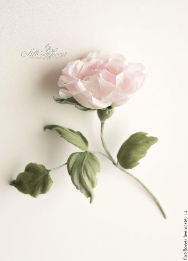 Купить Розочка из шелка. Цветы из ткани. Розы для девочки - бледно-розовый, розовый, розовый кварц