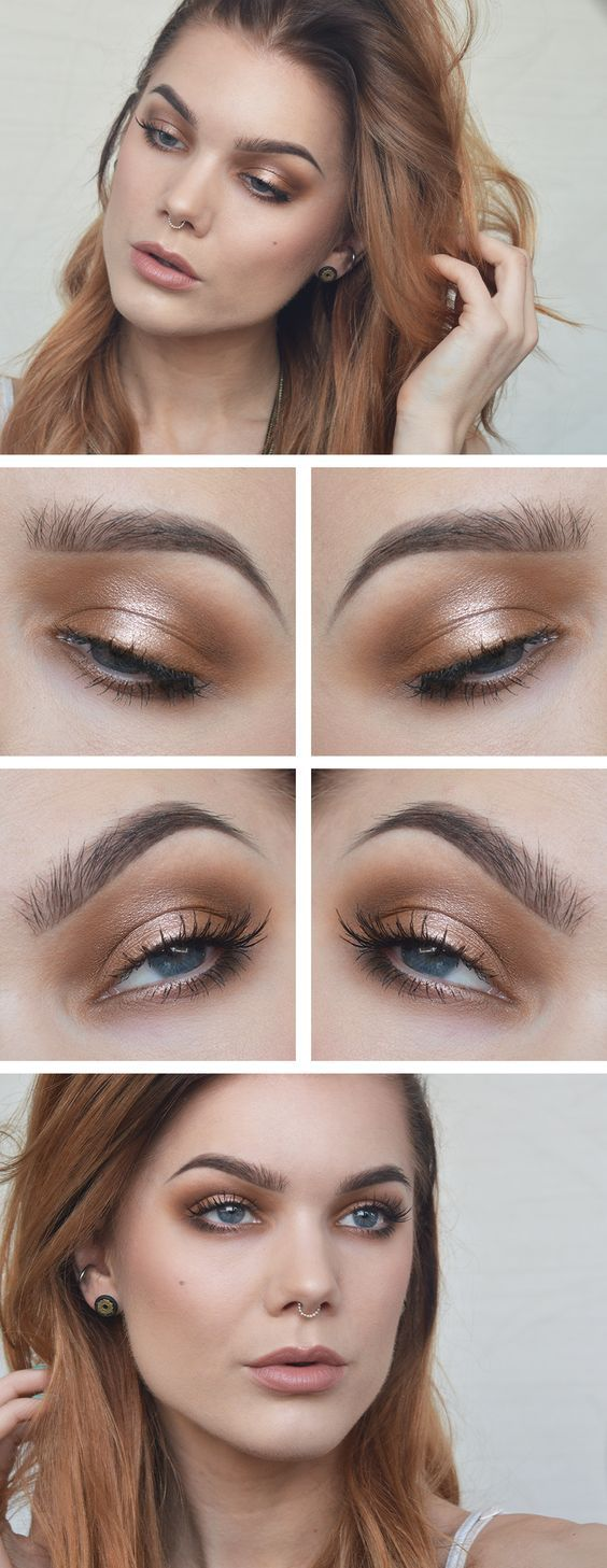 Bronze smokey eye - perfect use of palette 1