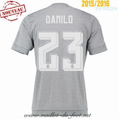 la boutique du Maillot de foot Real Madrid Danilo 23 Exterieur 2015 2016 Thailande pas chere