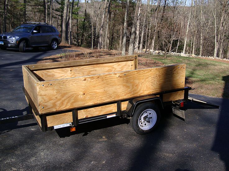 Wooden sides on utility trailer