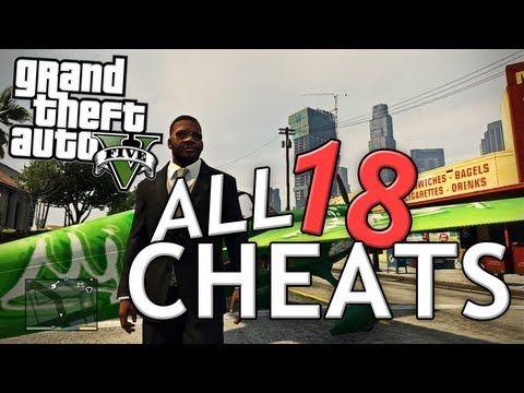 GTA V ALL 21 CHEATS! Xbox 360 & PS3 (+ GTA 5 Gameplay)