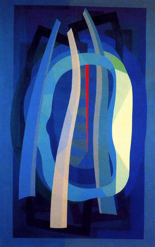 """Emilio Pettoruti (1892–1971) was an Argentine painter, who caused a scandal with his avant-garde cubist exhibition in 1924 in Buenos Aires. At the beginning of the 20 C, Pettoruti's career was thriving during the 1920s when """"Argentina witnessed a decade of dynamic artistic activity. While Pettoruti was influenced by cubism, futurism, constructivism, and abstraction, he did not claim to paint in any of those styles in particular."""