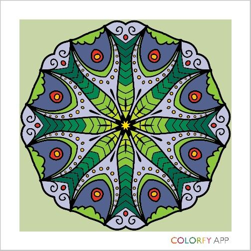 #mandala #colour #colouring #colouringapp #colorfy #hobby