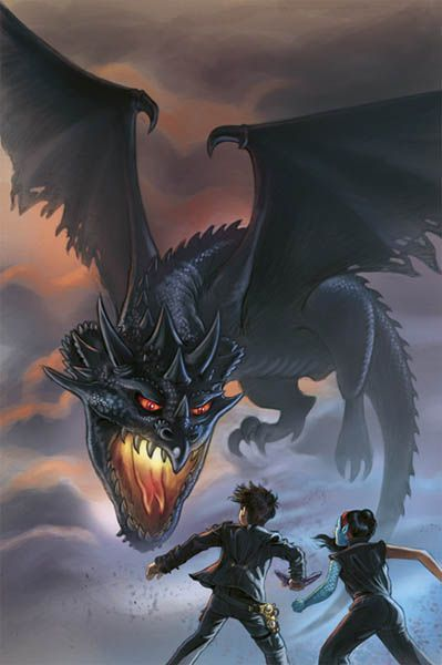 """Not So Goblin Boy and the Dragon King"", © Illustration Donovan Bixley, for the junior fiction novel by Ezekiel Kulimianna, 2013."