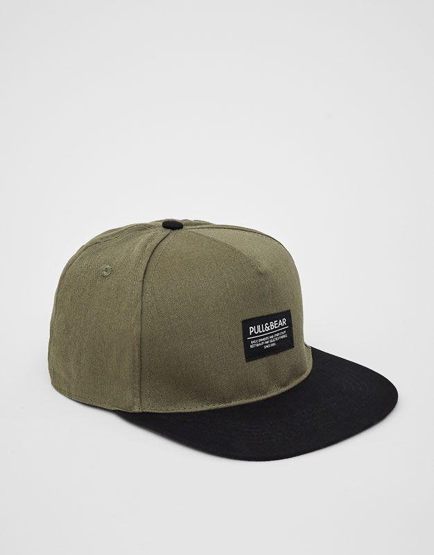 Pull&Bear - erkek - aksesuarlar - kasketler ve şapkalar - siyah vizörlü haki şapka - renkli - 05830506-V2017