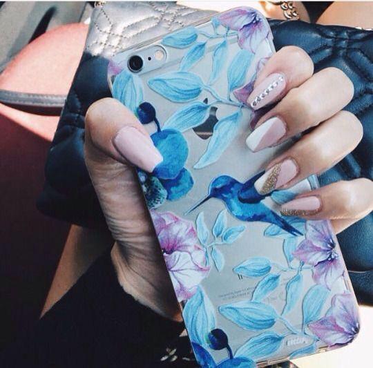 Blue and purple pretty phone case