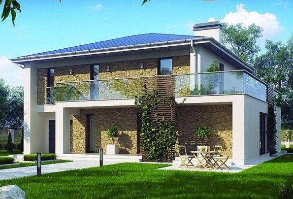 Fachadas para casas con balcón