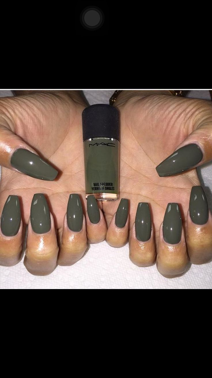 45 Best Images About Olive Green Nails On Pinterest Coffin Nails Olives And Dark Skinned Women Green Nails Trendy Nails Gel Nails