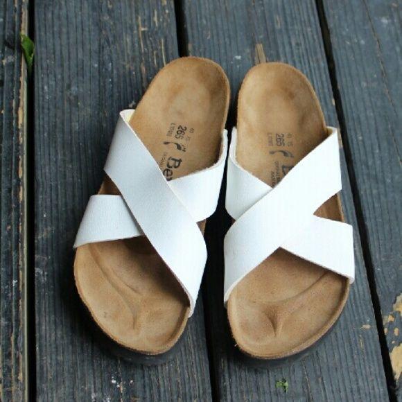 White Betula Birkenstocks Like new white Betula Birkenstock sandals. Women's size 10 Men's size 8. Betula Shoes Sandals