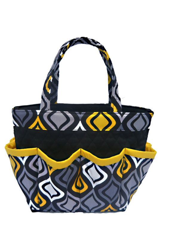 Sezzray Geometric Pattern 8 Pocket Bingo Bag from SewTrendy Rose
