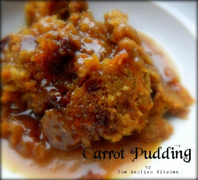 Carrot Pudding with a Brown Sugar Sauce