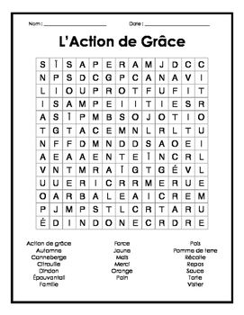 Includes a French vocabulary word search puzzles on thanksgiving vocabulary.Use puzzle as vocabulary review, fun activities, fillers, or supply work! Perfect for primary, junior and intermediate, Core French or French Immersion.Buy 4 pack holiday word search bundle here for 1.75$:https://www.teacherspayteachers.com/Product/4-French-Holiday-Word-Search-Puzzles-4-Mots-Croises-Francais-pour-les-Fetes-2449760Buy 25 pack French word search bundle here for 5.00$…