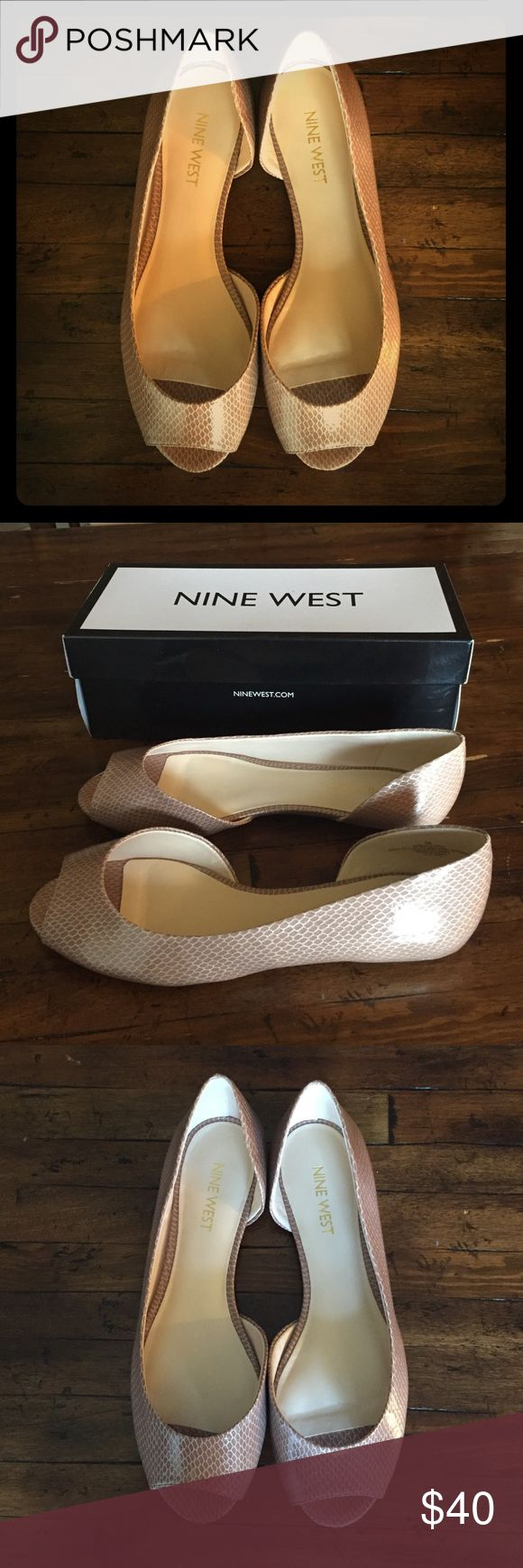 Nine West Bacheloret D'orsay Ballet Flat (New) Brand new (in box) d'orsay peep toe flats Nine West Shoes Flats & Loafers