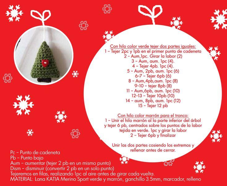 128 best navidad images on Pinterest   Adornos navideños, Punto de ...