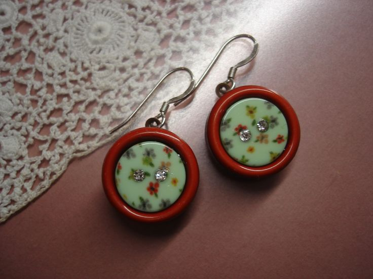 Buttons earings