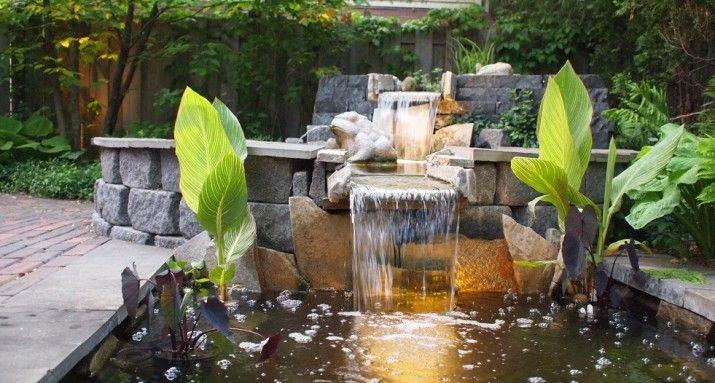 Best 25 modern pond ideas on pinterest modern garden for Modern pond waterfall