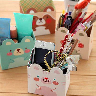 Tablero de papel Cosméticos Caja de almacenamiento hágalo usted mismo Maquillaje Escritorio Organizador Papelería Lindo