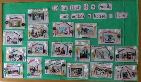 """It's the LOVE of a family that makes a house a HOME. Perfect art for your """"All about me"""" Theme"""