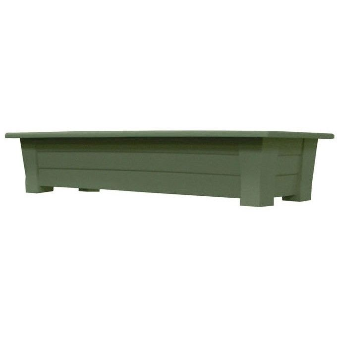 Sage Green Rectangular Garden Deck Patio Planter - Holds up to 150 lbs