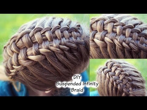 ▶ How to : Suspended Infinity Braid on yourself | Braids for long medium hair - YouTube
