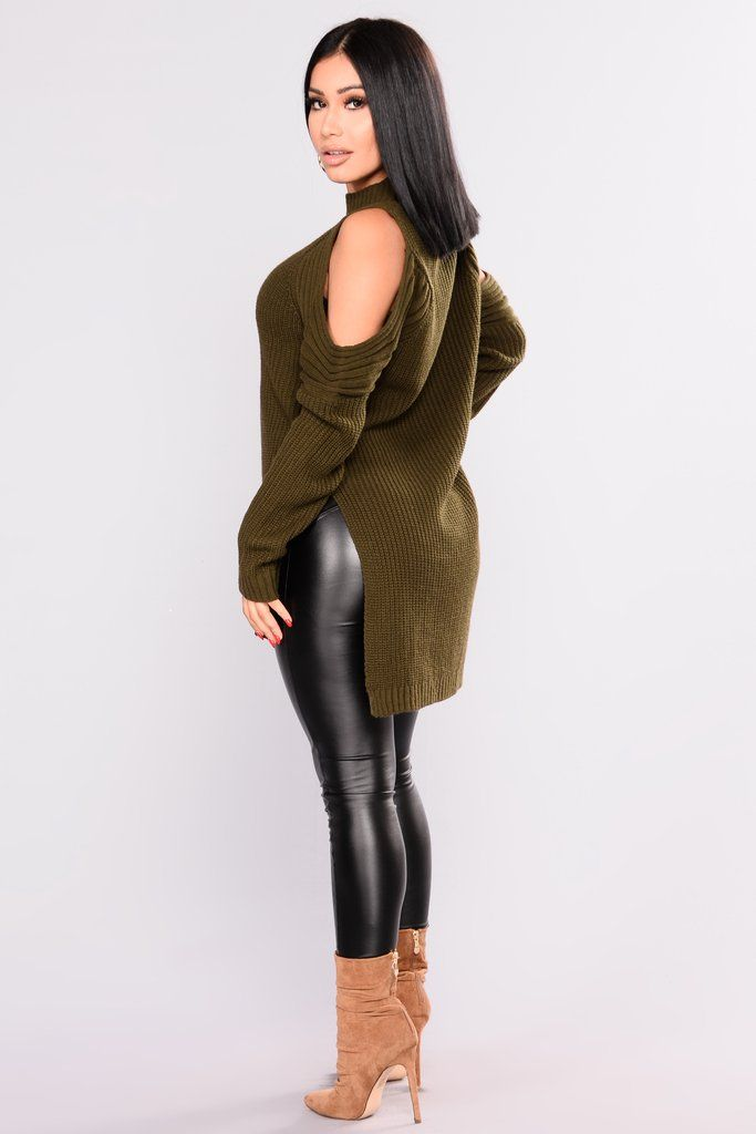 Whenever, Wherever Sweater - Olive